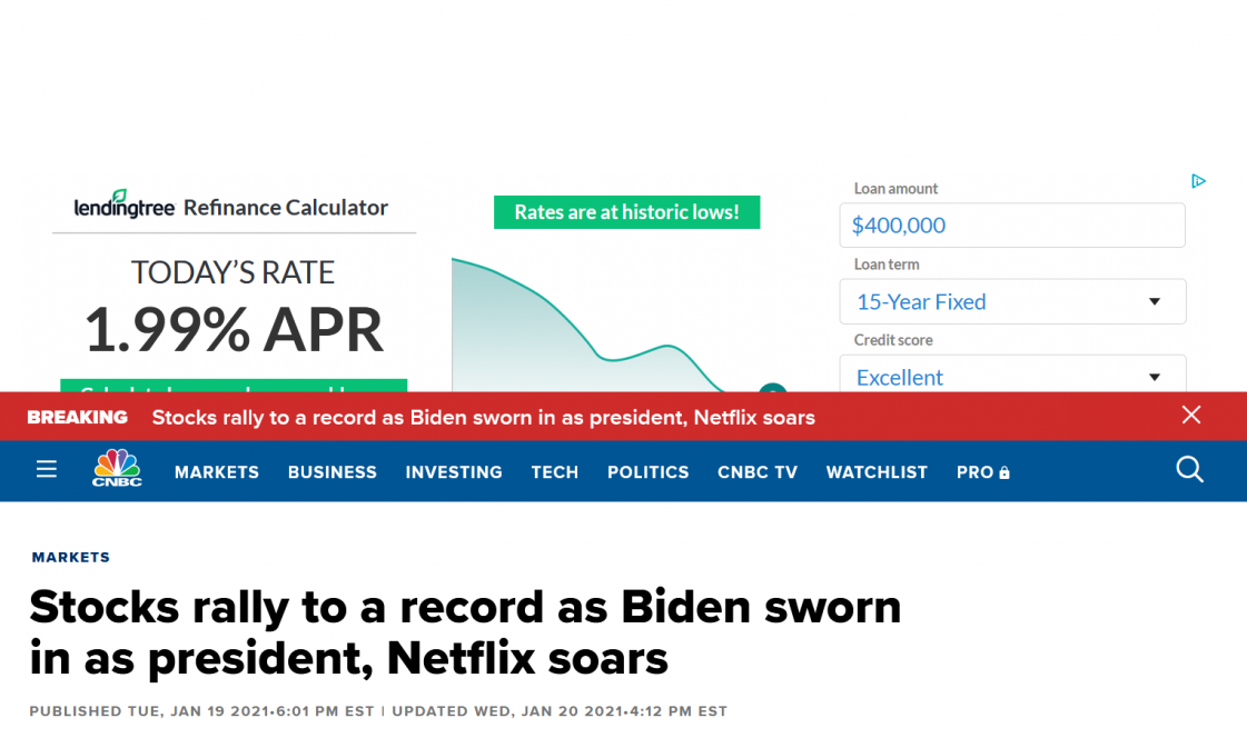 gallery/screenshot_2021-01-20 stocks rally to a record as biden sworn in as president, netflix soars